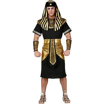 Pharao Kostüm mit Kopfbedeckung - Schwarz/Gold Historisches Karnevalskostüm S
