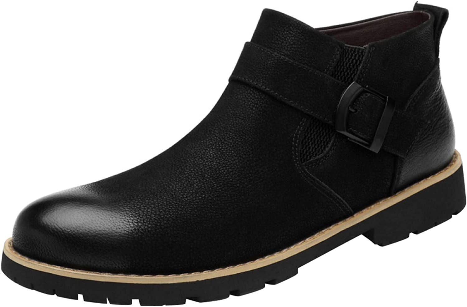 Men's Fashion Chelsea Ankle Boots Casual Leather Martin Boots