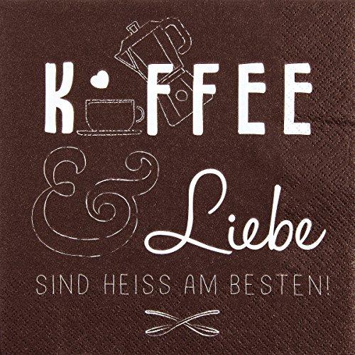 Servetten reliëf verjaardag tekst koffie liefde 20 stuks 3-laags 33x33cm