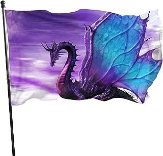 Garden Home Flag Purple Dragon Large 3x5 Ft Vertical Outdoor House Decor Yard Outdoor Celebration Procession Festival Flag