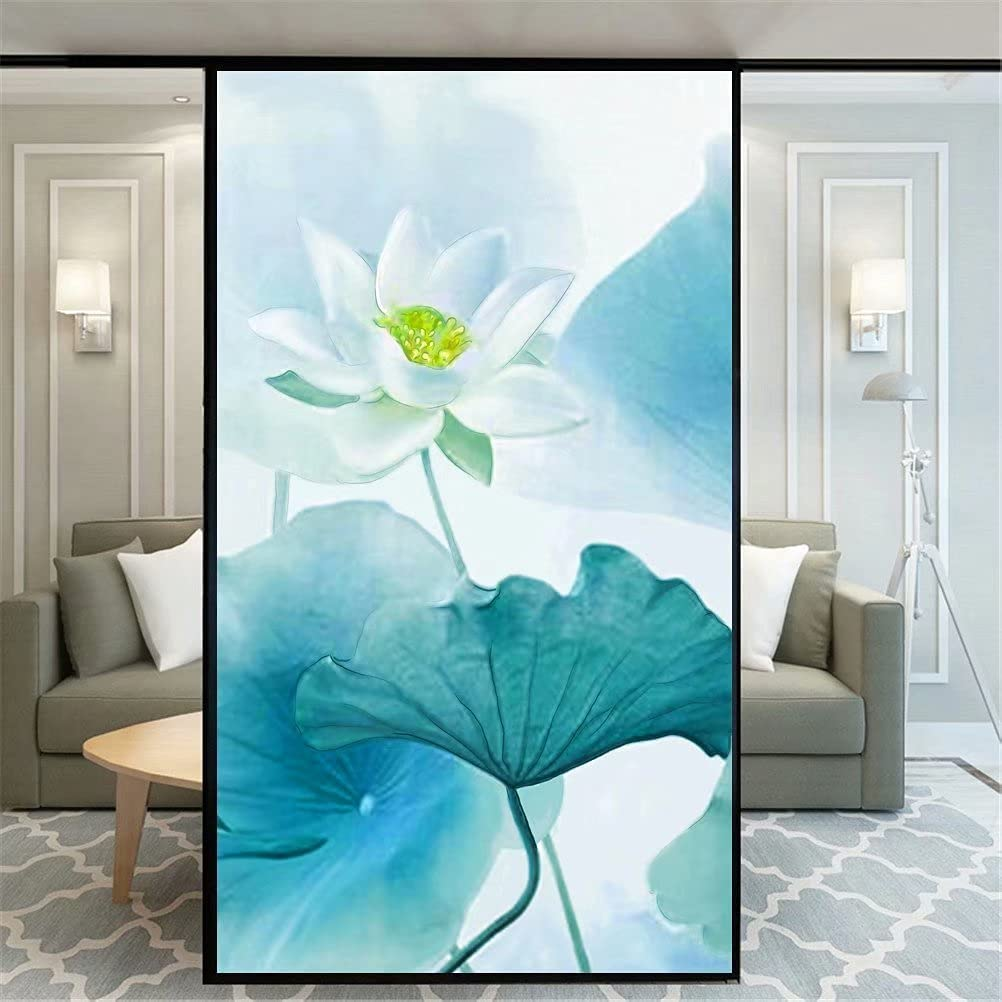 Xijier Non Long Beach Mall Adhesive Spasm price Decorative Privacy Film Window Frosted Lotus
