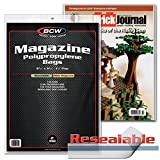 100 Resealable BCW Thick Magazine Poly Bags and 100 Magazine Backer Boards