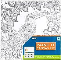 """Pro Art Paint-It Canvas Kit 10""""X10""""-Toucan"""