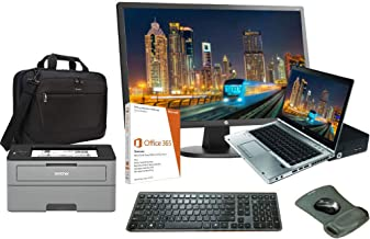 HPE Elite 8460p Laptop All in One Bundle, Intel i5 2.5GHz, 16GB, 250TB SSD, Windows 10, O365 (Renewed)