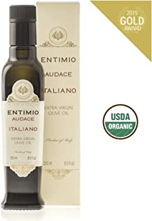 Entimio Audace | Organic Extra Virgin Olive Oil, Italy, Early Harvest, Cold Pressed | Peppery Finish, Rich in Antioxidants | Two 2019 Gold Awards | 2018 Harvest / 2019 Release | 8.5 fl oz