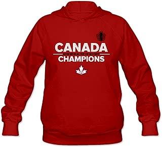 Women Canada World Cup of Hockey 2016 Champions Champs Sweatshirt Hoodie