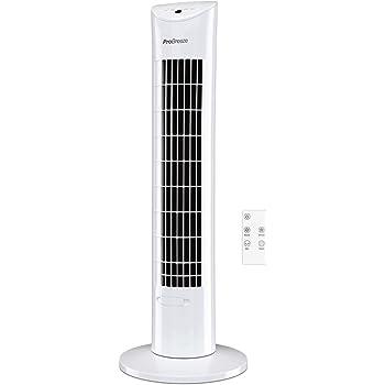Pro Breeze Ventilador de Torre Oscilante - 60W con Temporizador y ...