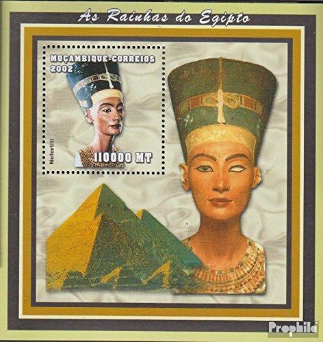 Prophila Collection Mosambik Block149 (kompl.Ausg.) 2002 Altägyptische Herrscher (Briefmarken für Sammler) Kultur