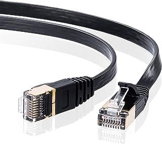 サンワサプライ LANケーブル CAT7 ウルトラフラット 10Gbps/600MHz ギガビット イーサネットケーブル ツメ折れ防止 RJ45コネクタ (5m) ブラック KB-FLU7-05BK