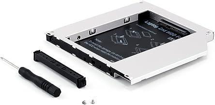 CSL - 9,5mm Bahía de Disco Duro SATA HDD SSD Hard Drive Caddy 2nd HDD módulo SSD 9,5 mm - Bastidor de Disco Duro con Inter...