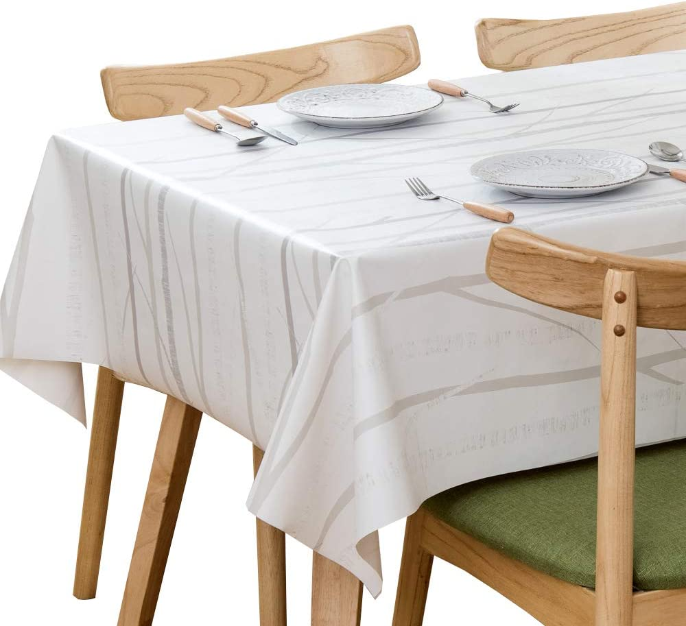 Chizoya Table Cloth New color Heavy Duty Max 63% OFF T Vinyl for Rectangle