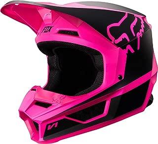 Fox Racing Youth V1 Przm Helmet (M) (Black/Pink)