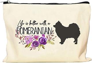 Pomeranian Life is Better Makeup Bag
