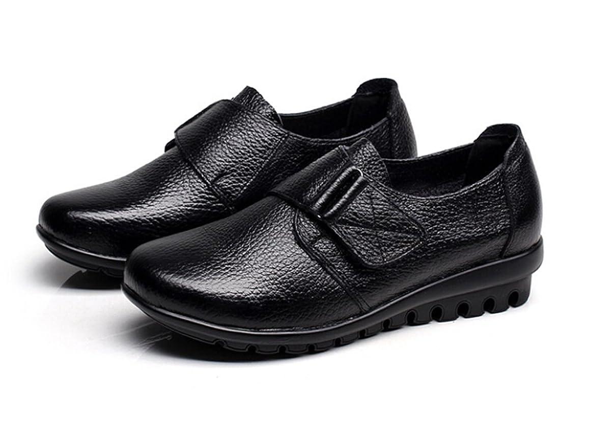 シェア肉腫主人[Eagsouni] 老人靴 パンプス レディース レザー 母親へ 介護 甲高 幅広 外反母趾 22.5-26.5cm