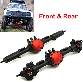 CNC Aluminum Front Axle Rear Axle for AXIAL SCX10 II AX90046 1/10 RC Crawler (Front &Rear Axle)