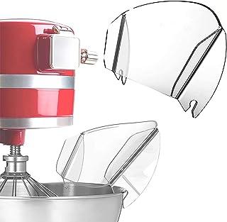 درع الصب، مزلاج عالمي لأوعية خلط معدنية، واقي رذاذ شفاف للخلاط الحامل، أدوات المطبخ سهلة التنظيف أدوات الخبز وملحقات خلاط