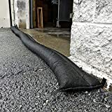 PIG Home Solutions Sandless Sand Barriers by New Pig   Garage Water Barrier   Water Barriers for Flooding   Flood Protection & Control with Water Activated Barrier   10'L (2-Pack), Black