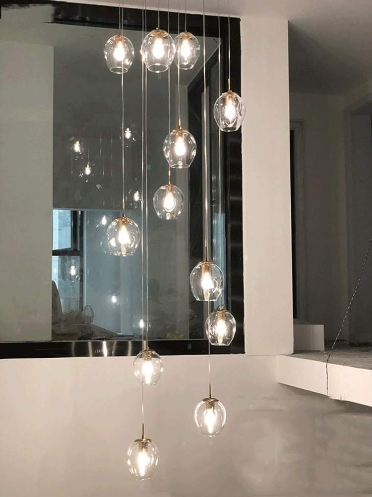 Bds lighting 12 tonalità di vetro luci del pendente BDS0626