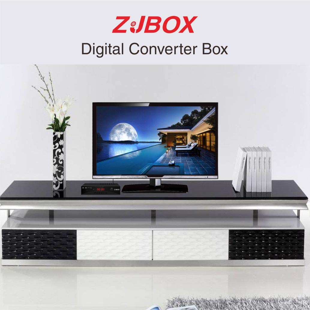 ZJBOX - Convertidor de TV Digital con Caja de Cabal para TV analógica HD 1080P con grabación y reproducción de PVR, Salida HDMI, Temporizador LED HDTV, Caja Superior, sin Canal Digital: Amazon.es: