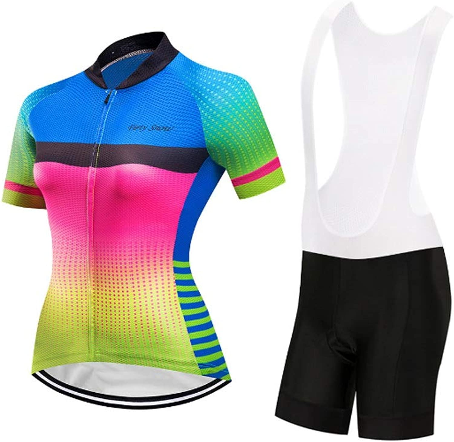 Women's Cycling Jersey and Padded Shorts Short Sleeve Sets Outdoor Sports Suit