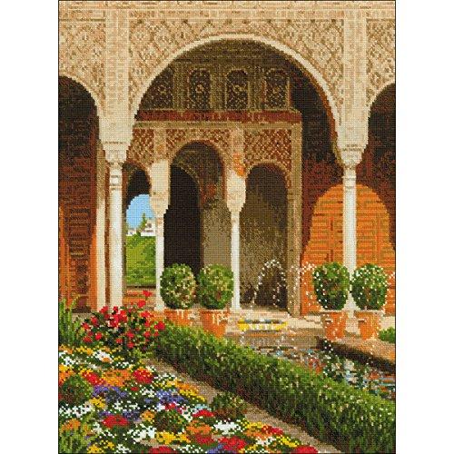 Riolis el Palacio Kit de Punto de Cruz, diseño de jardín, Multicolor