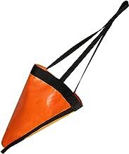 MOOCY 24-Inch Drift Sock Sea Anchor Drogue, High Visibility Orange Sea Brake for Marine Boat/Yacht/Jet Ski/Inflatable/Power Boat/Sail Boat