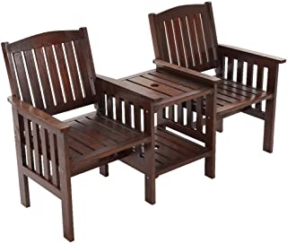 Gardeon Wooden Outdoor Furniture Garden Patio Chair Seat-Charcoal