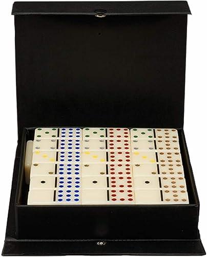 Nlne Domino-Set - Domino-Spiel für Kinder und Erwachsene - Double Six Dominos Club in PVC-Box,12