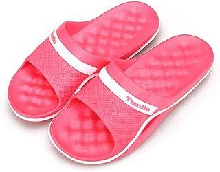 FPXNBONE Baño Sandalia Suela De Espuma,Pantuflas de Fondo Suave de Cuatro Estaciones, Sandalias Suaves de baño-West Red_40,Zapatos de Playa y Piscina para Niña