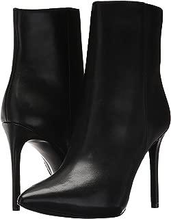 Michael Michael Kors Leona Leather High Heel Booties Black