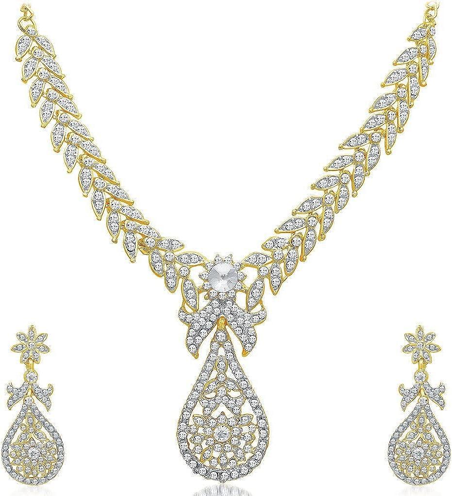 Kalyani's Stylish Gold Plated Austrian Diamond Wedding shop Jewellery Ranking TOP18