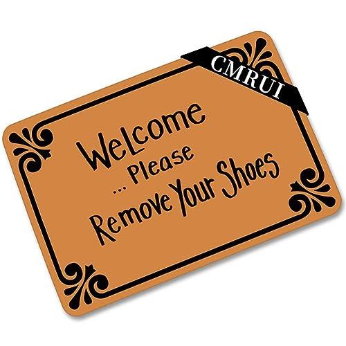 Chic D Custom Door Mats Funny Words Take Your Shoes off Please Indoor//Outdoor