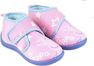 Peppa-Pig Bottines – Zapatillas de interior fosforescentes para niña, color rosa y azul del 23 al 28