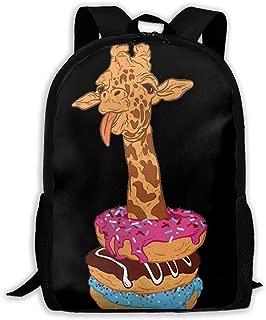 Laptop Backpack Giraffe Sit In Dobuts Zipper College Bookbag Daypack Travel Rucksack Gym Bag For Man Women