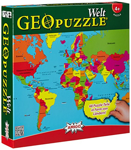 Amigo Spiel + Freizeit GEO 507 381 - GeoPuzzle – Welt