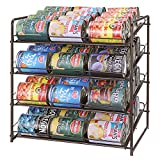 Simple Trending Can Rack Organizer, Stackable Can Storage Dispenser Holds up to 48 Cans for Kitchen Cabinet or Pantry, Bronze