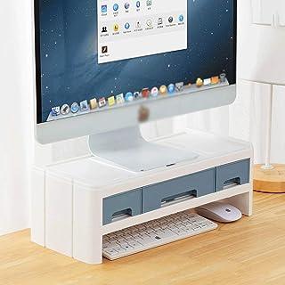 Q-HL Support de Moniteur Réhausseur d'Écran Bureau Monitor Stand Riser Bureau d'ordinateur Organisateur avec écran Rack Ri...
