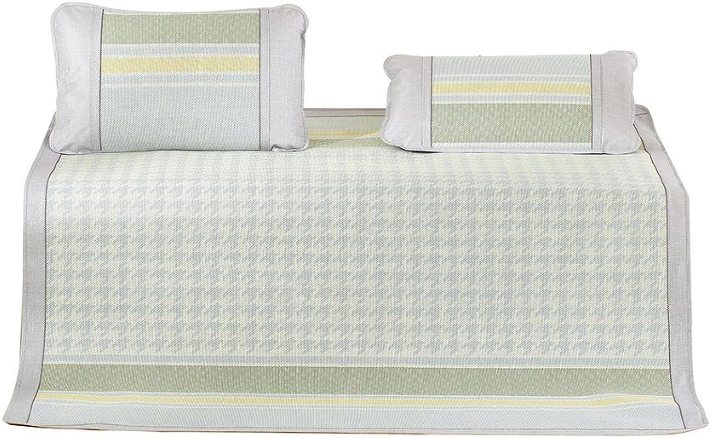 Plaid Summer mat,European Luxury Breathable Skin-Friendly Sleeping mat Cool pad Twin Queen mat Kits -A 150  200cm(59x79inch)
