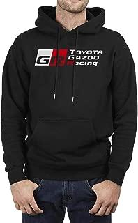 Men Fleece Long Sleeve Pullover Hoodie Sweater Toyota-TRO-Racing- Kangaroo Pocket Novelty Pullover