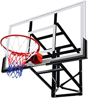 LHNEREGLHNEREG Aro De Baloncesto De Montaje En Pared Interior Al Aire Libre, Tableros De Baloncesto Seguros De Altura Ajus...