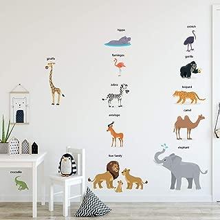 WEWINLE Cartoon Animals Wall Stickers DIY Children Mural...