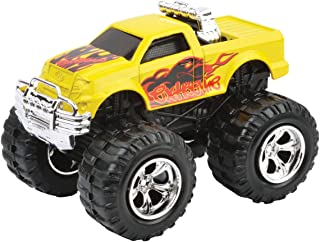 Motormax Mighty Monsters 3 inch Pull Back Monster Vehicle Die Cast Model For Boys Yellow