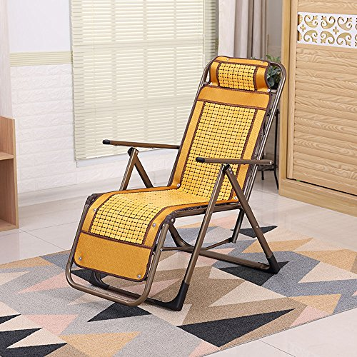 Chaises longues-Chaises longues-- Chaises Longues Mahjong Chaise Pliante Rabattable Chaise De Toilette De Bureau Chaise De Loisir Chaise De Jardin Chaise En Bambou (couleur Optionnelle) --Applicable à l'intérieur et à l'extérieur ( Couleur : E )