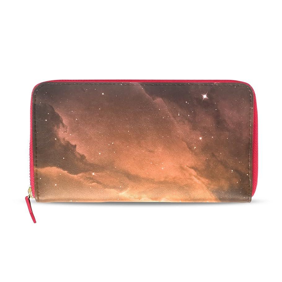 祈る気味の悪いスクランブルAOMOKI 財布 レディース 長財布 夜空 星空 銀河 惑星 星 ラウンドファスナー PUレザー 大容量 二つ折り 幅20*丈11cm