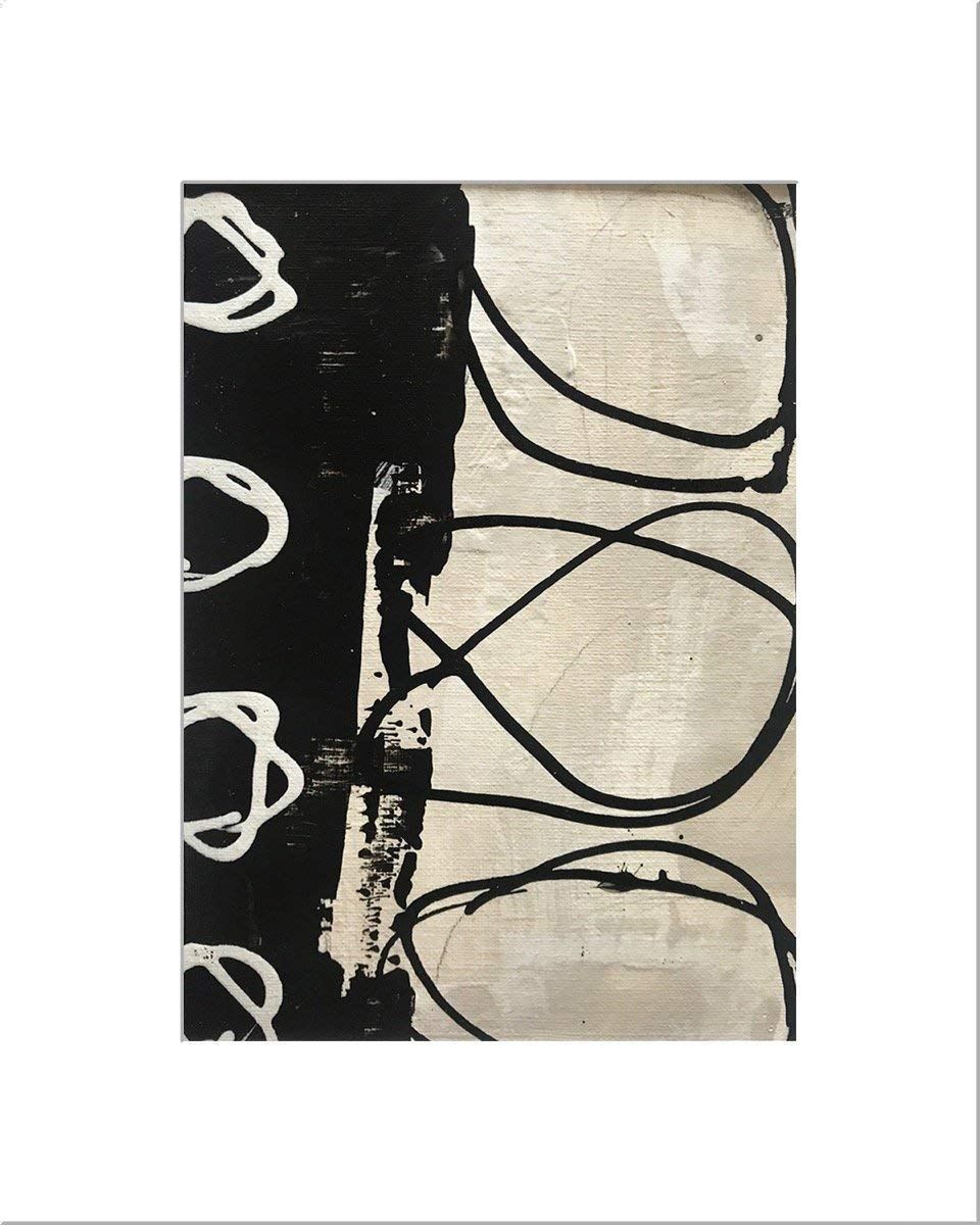 Tampa Mall Black White 37 Original Abstract by Jill English shopping Painting