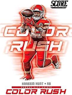 2018 Score Color Rush #2 Kareem Hunt NM-MT Chiefs
