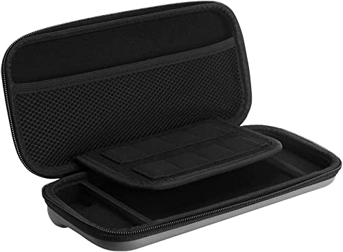 Electomania® Shockproof Storage Carry Hard Bag Case Cover for Nintendo Switch Controller (Grey)