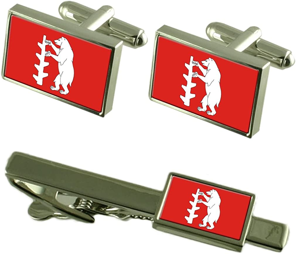 Select Max 41% Industry No. 1 OFF Gifts Warwickshire County England Tie Flag Clip Cufflinks