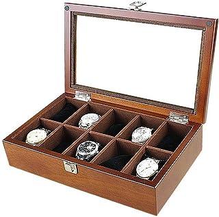 WEHQ - Organizador De Caja De Reloj para Mujer Organizador Grande De Madera Soporte Grande Personalizado (Color: