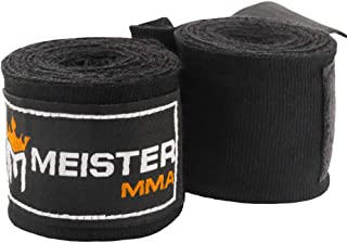 "Meister Junior 108"" Elastic Cotton Hand Wraps for MMA & Boxing (Pair)"